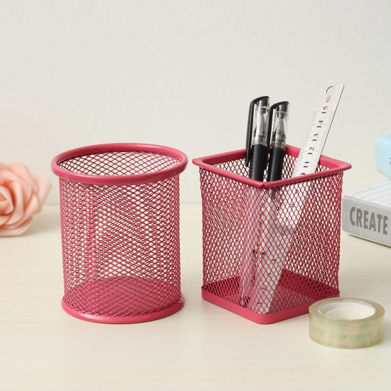 1 Pcs Metal Hollow Pen Pencil Holder Barbed Wire Pen Organizer School Office Supplies