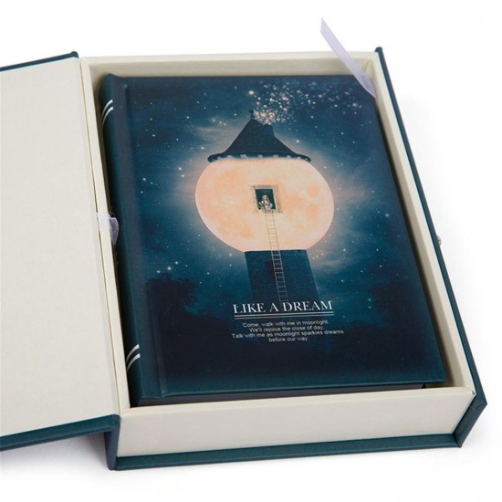 """Like a Dream"" Journal Diary Notebook With Lock Box Functional Planner Lock Notebook Gift Package"