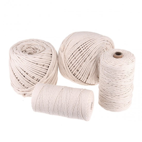 2-5mm Cotton String Twisted Cord Crafting Macrame Rope Decor Hand Braided Wire