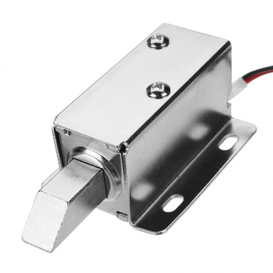 12V DC Electric Lock Assembly Solenoid Long Locking Tongue Cabinet Drawer Door Lock