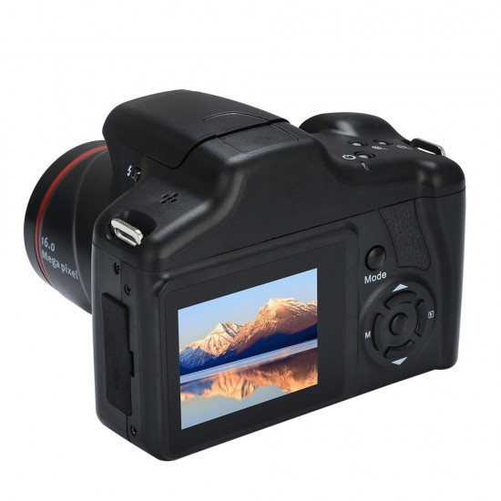 16MP 1080P 16X Zoom 2.4 Inch TFT Screen Anti-shake Digital SLR Camera with Built-in Microphone