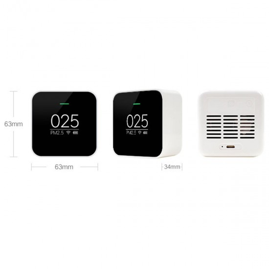 Original Xiaomi Black Smart OLED Display Accurate Laser Sensor Air Quality Monitor PM 2.5 Detector