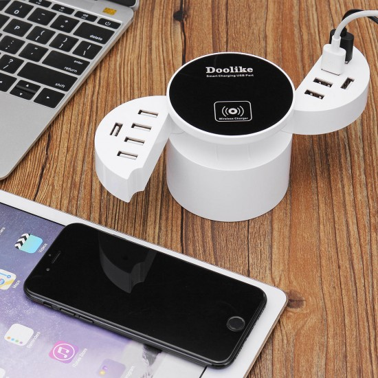 Bakeey DL-CDA 16W 10Ports USB Charger With Wireless Charger For iPhone X 8/8Plus Samsung S8 Xiaomi m