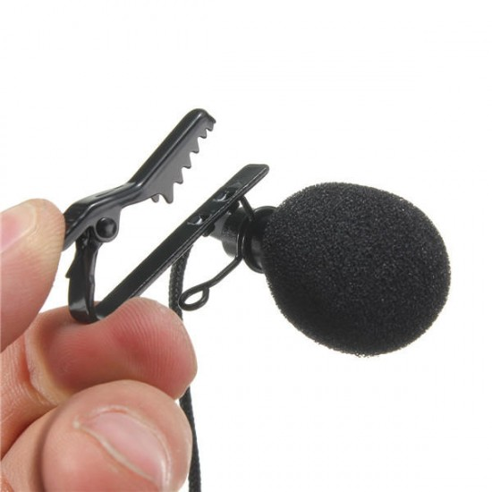 3.5mm High Sensitive 2.4M Tie Clip on Lapel Lavalier Mic Microphone