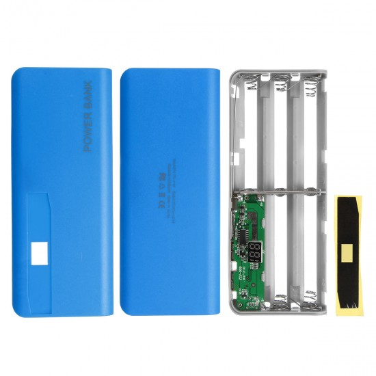 5V 2.1A 3 USB 5X 18650 Mobile Power Bank Case Battery Charger Pack Box Kit