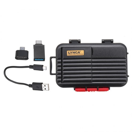 2 in 1 Type-c Micro USB OTG Memory Card TF Card CF Card Storage Box Card Reader for Mobile Phone
