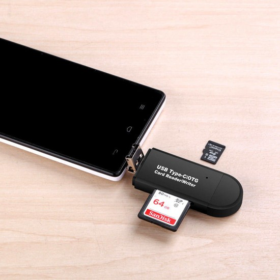 3 in 1 Multifunction Card Reader 480Mbps High Speed Type-c Micro Usb SD Tf Card OTG Card Reader