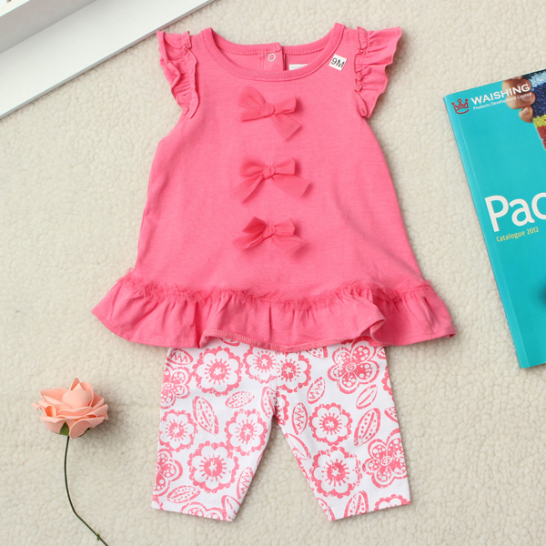 2PCS-Baby-Kids-Girls-Summer-Drape-Cropped-Trousers-Outfits-Sets-974313